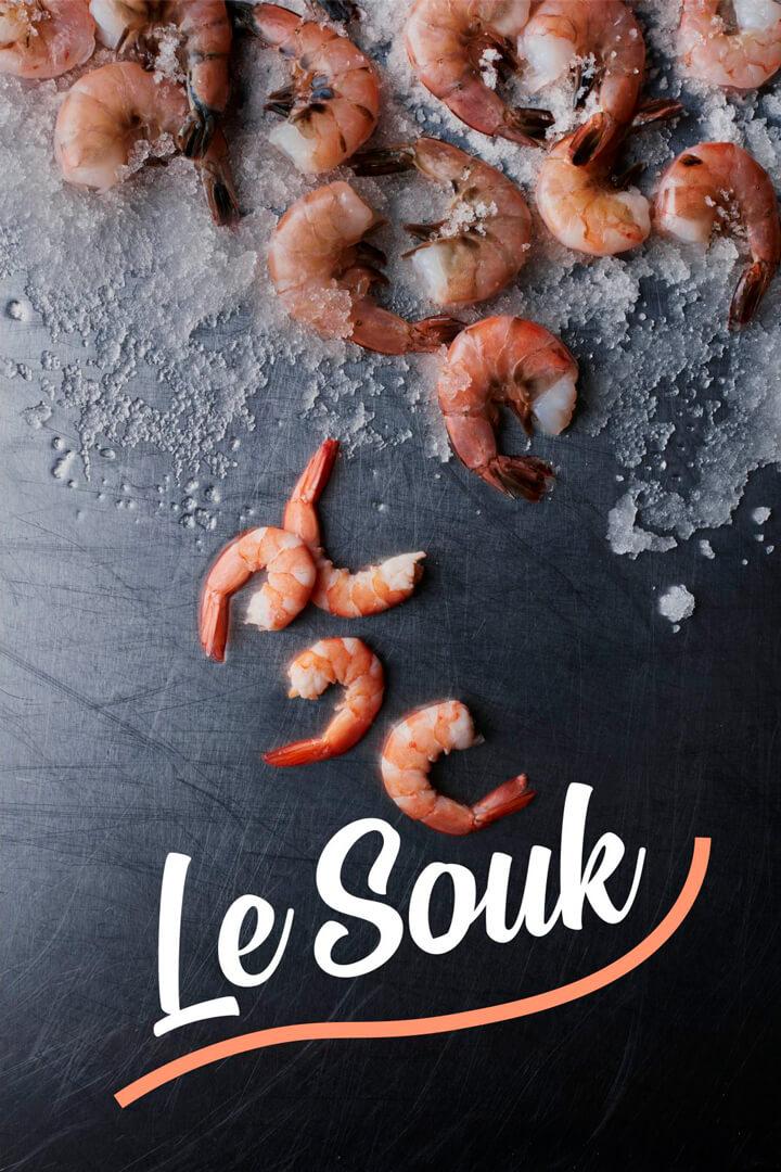 Chuck Studios Le Souk Go Fresh ingredients shrimp