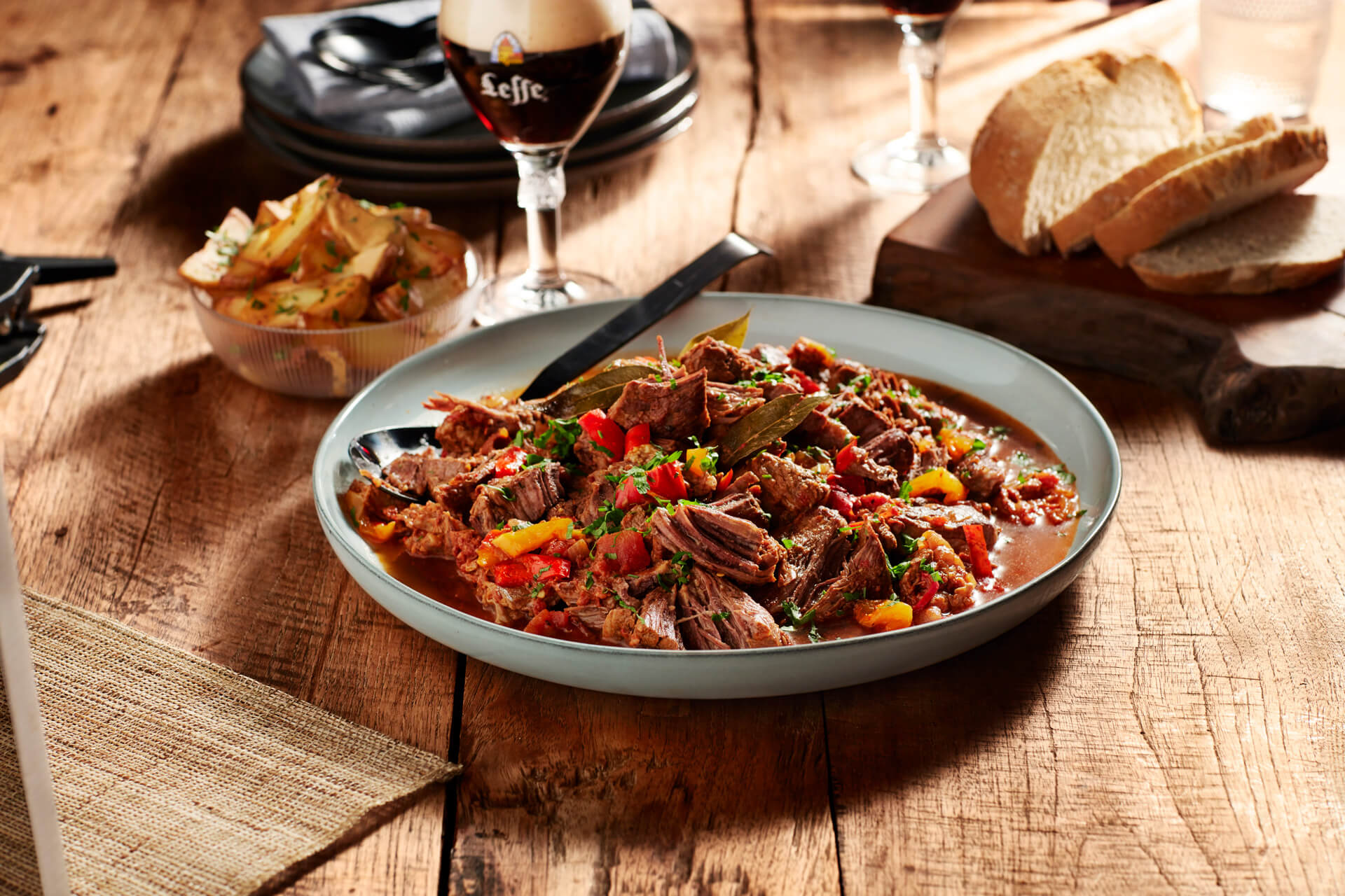 Leffe - food photography by Erik de Koning - stew and beer