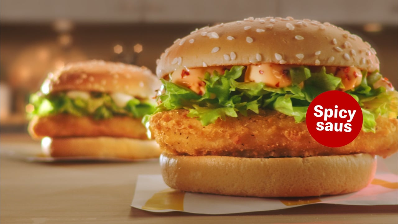 new mcdonald's spicy McChicken burger - new variant - tvc - film - commercial